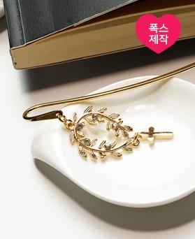 1049238 - <BK091> [handmade] Leaf cross Bookmark