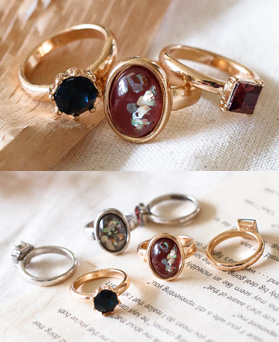 1049270 - <RI872_JE25> [3Piece 1set] antique Verita ring