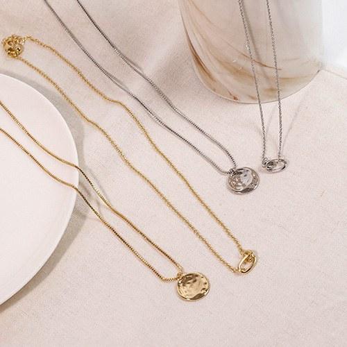 1049294 - <NE581_BF04> [2Piece 1set] coin ring necklace