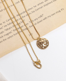 1049294 - <NE581_BF04> [2Piece 1set] coin ring necklace