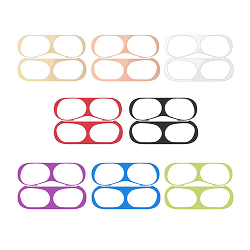 1049311 - <AP0540> 2 pieces of metal AirPods Pro compatible anti-dust powder stickers