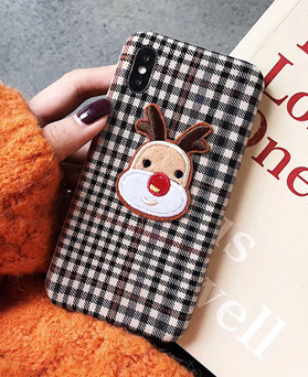 1049314 - <IP0068> Rudolph Brown check iPhone compatible case