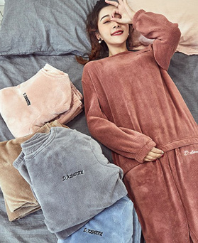 1049412 - <FI302> [Top + Bottom] Sleeping Angel Sleep Pajamas set