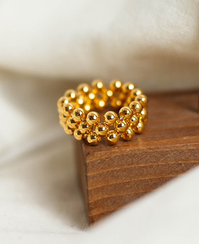 1049440 - <RI873_IG13> [Silver] 3 line ball ring