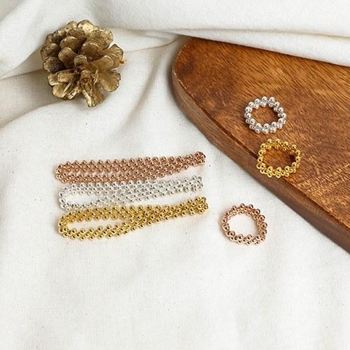 1049442 - <JS346_IG13> [ring + bracelet] [Silver] 3 line ball set
