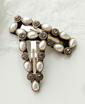 1049467 - <HA760_EB07> antique daia pearl hairpin