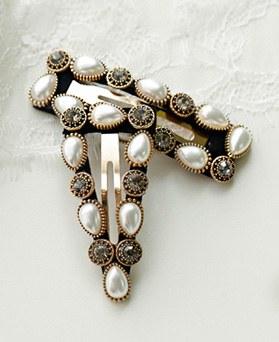 1049467 - <HA760_EB07> antique daia pearl hairpin