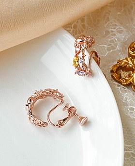 1049468 - <ER2204_GI01> rias Flower ring clip earring