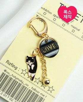 1049471 - <AP0575> [handmade] love bell cat key ring