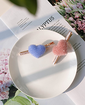 1049479 - <HA761_EB07> sweet candy heart hairpin