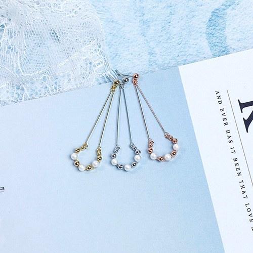 1049494 - <ER2189_DG30> clip earring round pearl drop earrings