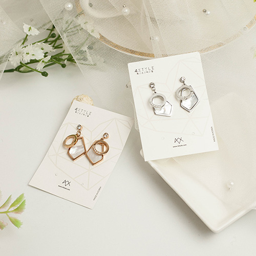1049495 - <ER2182_DF30> clip earring Stainless steel Mardia drop earrings