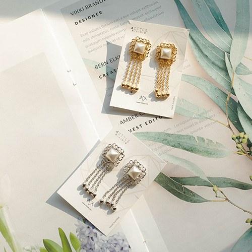 1049509 - <ER2214_DG27> antique rue pearl earrings