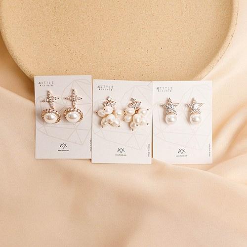 1049522 - <ER2217_CF08> bright pearl earrings
