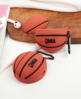 1049527 - Plump Basketball AirPods Compatible with Case