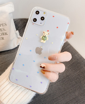 1049538 - clear polka dots bare iphone compatible case