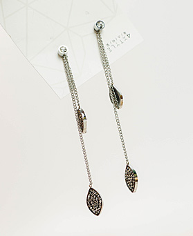 1049542 - <ER2224_GI09> [Stainless Steel] Monde two-way earrings