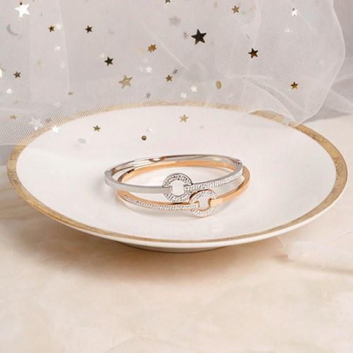 1049543 - [Stainless Steel] slim half cubic bracelet