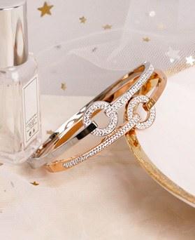 1049543 - <BC807_HE11> [Stainless Steel] slim half cubic bracelet