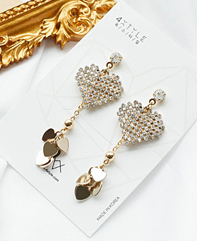 1049545 - <ER2230_IH13> Manny heart earrings
