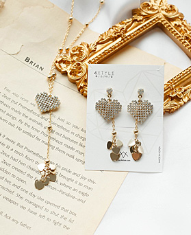1049547 - <JS355_IH13> [earrings + necklace] Manny heart set
