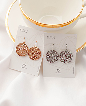 1049557 - <ER2226_GJ07> [Stainless Steel] Orio Round Earrings