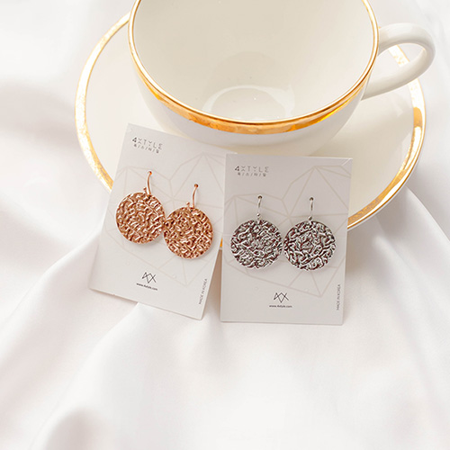 1049557 - [Stainless Steel] Orio round earrings