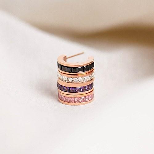 1049558 - <ER2227_GJ08> [Stainless Steel] Carried ring earrings