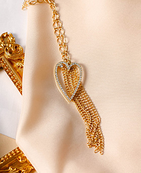 1049560 - <NE593_IH13> Noah heart chain necklace
