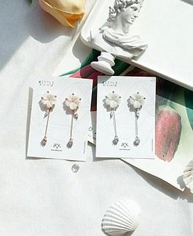 1049595 - <ER2233_GK08> [Silver Post] Mino Cherry blossom earrings