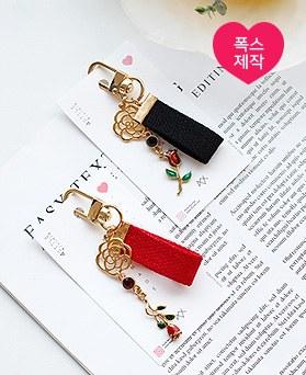 1049618 - [handmade] Lena rose Strap key ring
