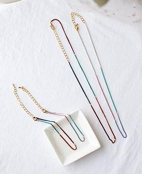 1049687 - [necklace + bracelet] Alon Dalong chain set