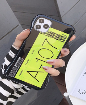 1049648 - 107 barcode cushion iphone compatible case