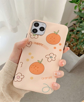 1049652 - happy orange jelly iphone compatible case