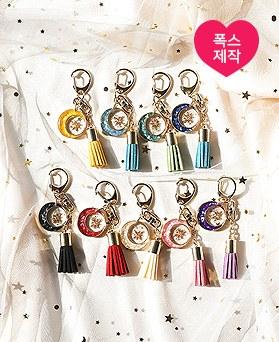 1049747 - <AP0591> [handmade] sparkly moon tassel key ring
