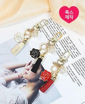 1049750 - <AP0590> [handmade] day rose tassel key ring