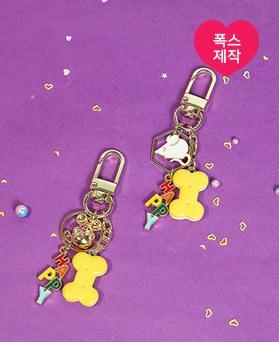 1049753 - <AP0587> [handmade] happy mouse key ring