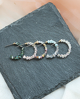 1049824 - <ER2244_GL08> [handmade] Luminosso crystal ring earrings