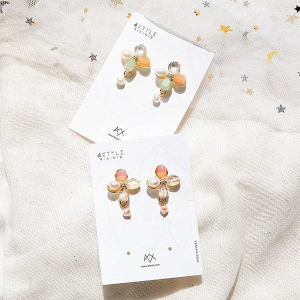 1049825 - <ER2246_GL10> [handmade] Aran Flower pearl earrings