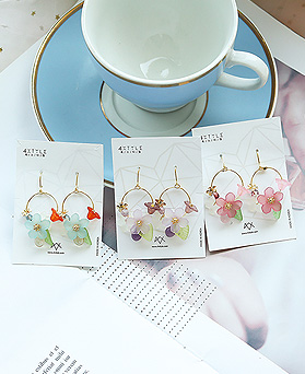 1049827 - <ER2247_IE18> [handmade] Supia Flower earrings