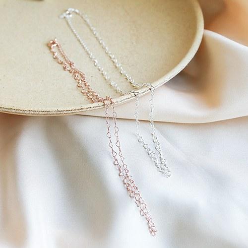 1049843 - <NE599_IE19> [Silver] Narani heart necklace