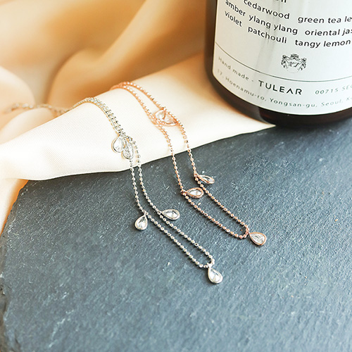 1049865 - <BC816_IE19> [Silver] Silver Scallop anklet