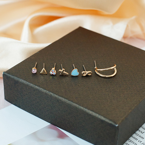 1049986 - <ER2246_CD07> [14Piece 1set] Mod set earrings