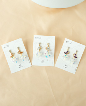 1050001 - <ER2249_DF10> [Silver Post] shine star earrings