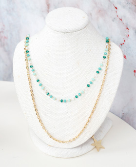 1050003 - <NE602_BB02> [2Piece 1set] Barim star necklace