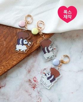 1050046 - <AP1022> [handmade] macaroon bear key ring