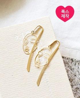1050052 - <AP1016> [handmade] Face Drawing Bookmark