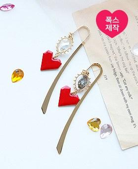 1050055 - <AP1013> [handmade] folding heart bookmark