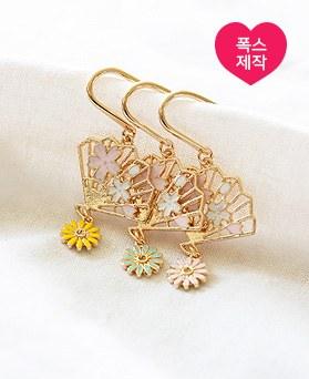 1050056 - <AP1012> [handmade] daisy fan bookmark
