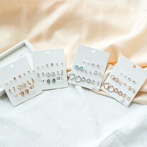 1050070 - <ER2247_CF15> [16Piece 1set] Mini moir earrings